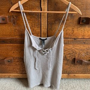 Gray forever 21 crop top